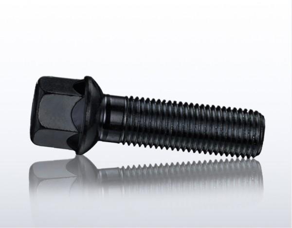 Radschraube Kugelbund Radius r14 M14x1,5x40 SW17 M1415KU40W schwarz