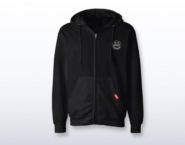 EIBACH KAPUZENPULLOVER - ZIP HODDIE VINTAGE BLACK 990457 - Grösse S