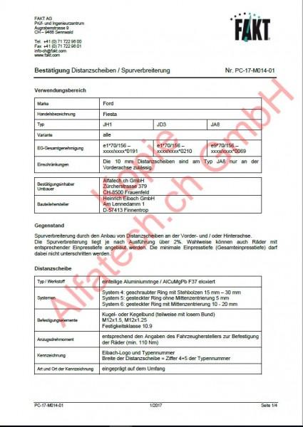 CH-Gutachten Spurverbreiterung Ford Fiesta (JH, JD, JA) PC-17-M014-01